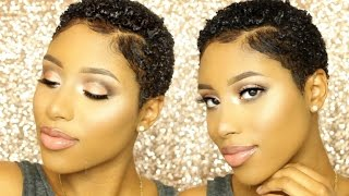 how to define curls for short natural hair   twa