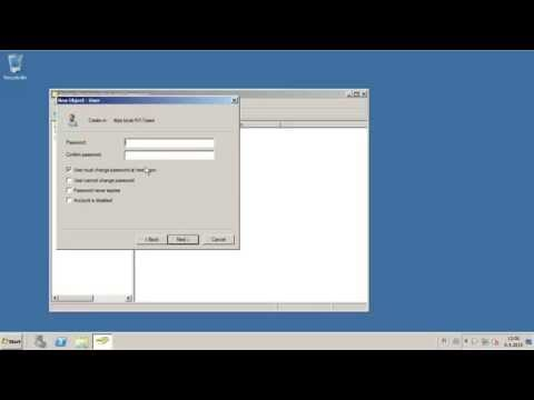 How To Create A New User In AD In Windows Server 2008r2