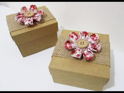 DIY #248 | Gift Box with Fabric Flower ❤