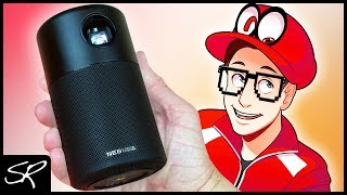 The World's SMALLEST Projector | Anker Nebula Capsule Unboxing & Test!