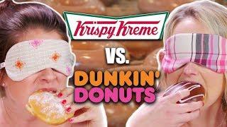 Blind Donut Taste Test! - Krispy Kreme vs. Dunkin Donuts