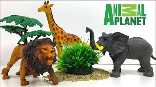 ANIMAL PLANET COLECCION DE SAFARI - LA VIDA DE LOS ANIMALES SALVAJES  JIRAFA, ELEFANTE, CEBRA Y MAS