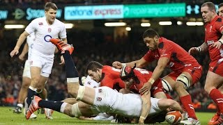 Try disallowed by TMO & Ref as Nick Easter obstructs - Wales v England, 06th Feb 2015