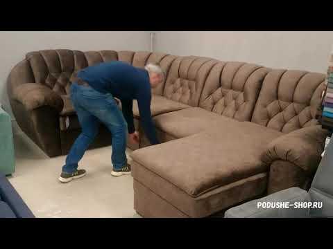 Модульный диван ЭЛИТ угловой с оттоманкой. Механизм: венеция (фабрика мебели PODUSHE)