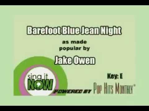Barefoot Blue Jean Night(karaoke)l Hannah Mae R.