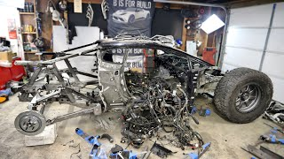 Jumpacan Full Tear Down To Bare Chassis & Rear Suspension - Off-Road Lamborghini Huracan
