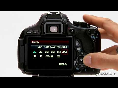 Canon Rebel tutorial: Image format and size options | lynda com