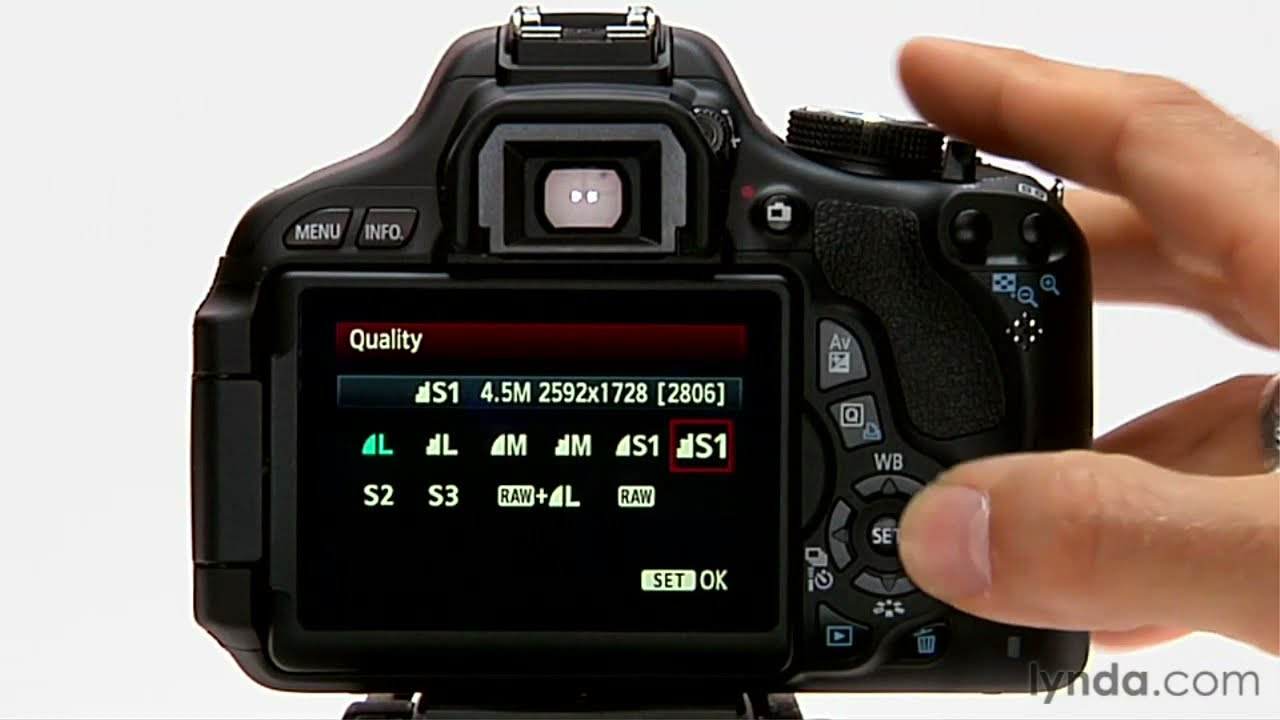 Canon rebel tutorial image format and size options for What does spec home mean