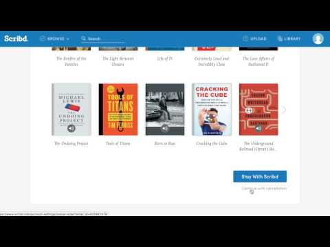How To Cancel Scribd (2017)