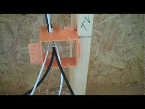 Low Voltage Wiring of the Master Suite TV