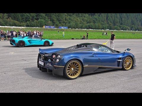 Pagani Huayra Roadster vs Lamborghini Aventador LP750-4 SV Roadster
