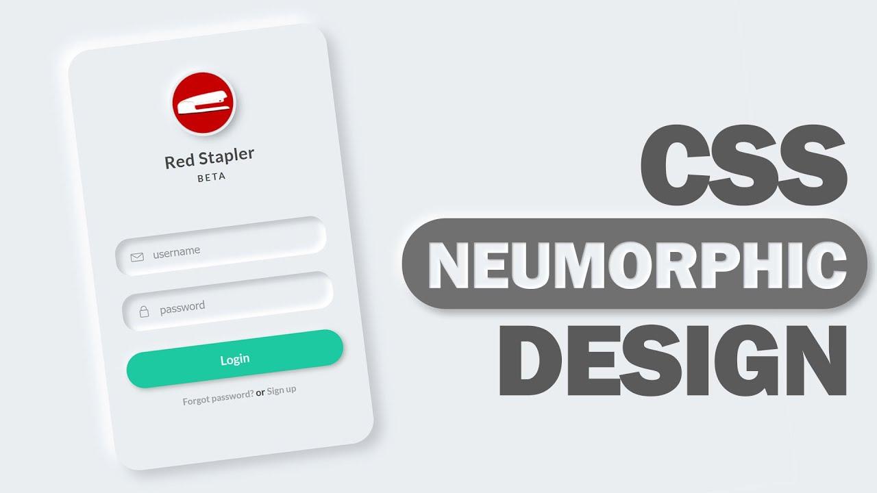 CSS Neumorphic Login Form Design Tutorial