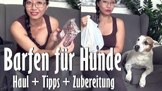 Barfen für Hunde / Haul + Tipps + Zubereitung [Tyra at Home]