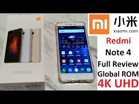 FULL REVIEW 4K UHD : Xiaomi Redmi Note 4 Global 3GB / 64GB Helio X20 Android6 TouchID 4100mAh 小米 商城