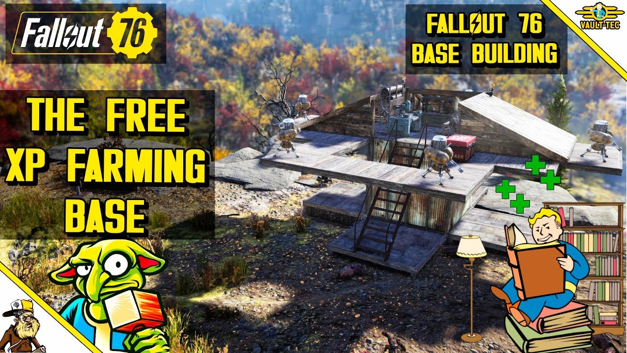 Fallout 76 Base Building Trader Shop Fallout 76 Garage Door Location Youtube
