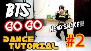 BTS GO GO DANCE TUTORIAL FULL MIRRORED Part 2   TAMA CHANN