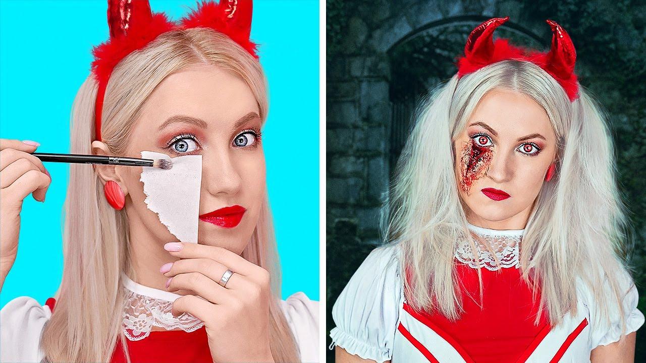 ЖУТКИЕ ИДЕИ ДЛЯ ХЕЛЛОУИНА || Как быстро сделать костюм для Хеллоуина и другие идеи от 123 GO!