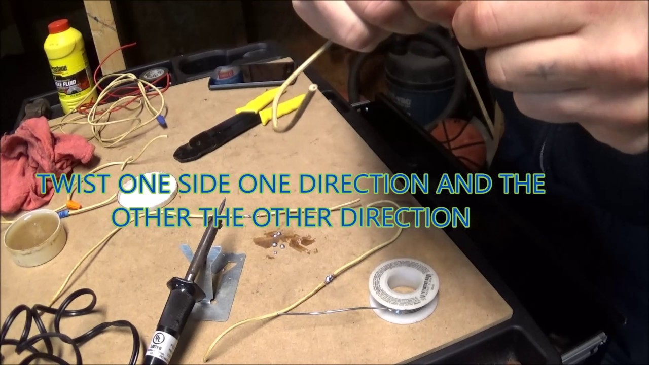 Car Audio Wiring Solder Schematic Diagrams Supplies And Tips For Soldering Youtube Install