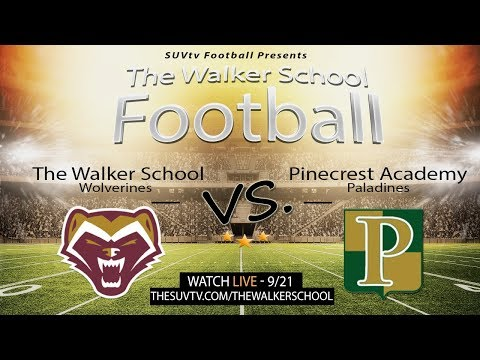 Varsity Football: The Walker School vs. Pinecrest Academy