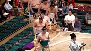 Juryo Dohyo iri , higashi , Sumo : Natsubasho 2012 三瓶宏志 検索動画 9
