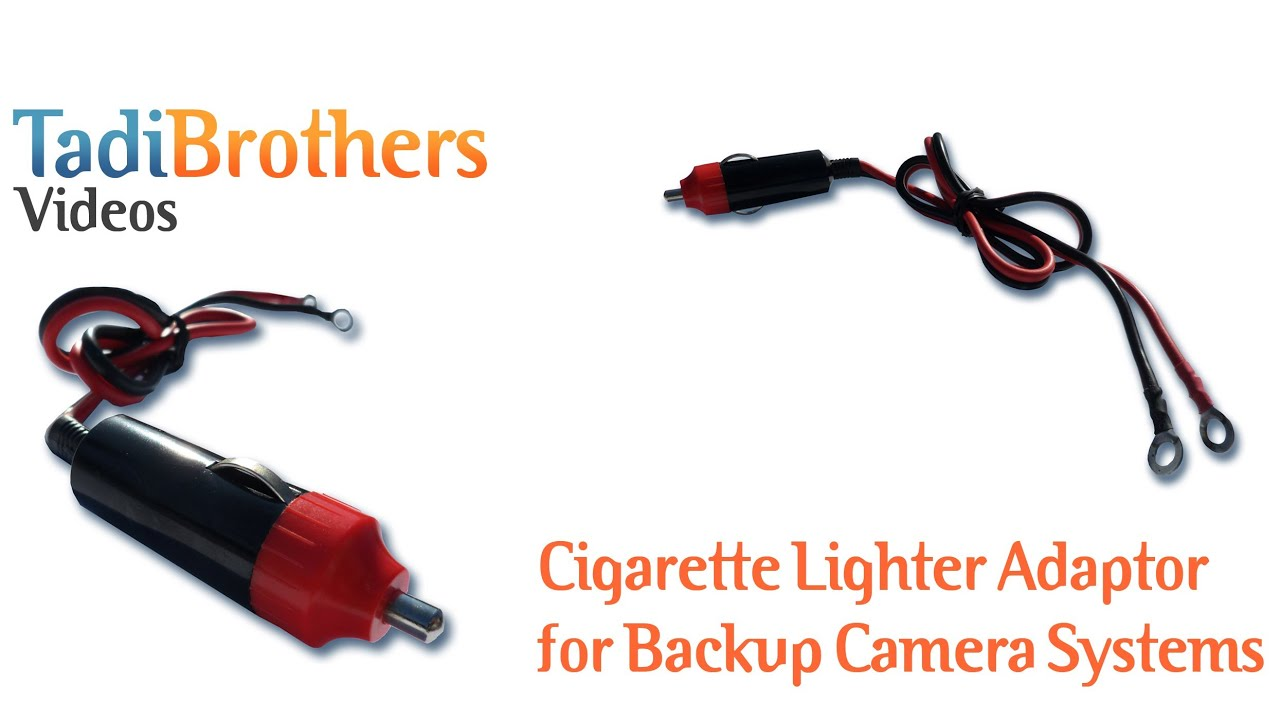 Cigarette Lighter Adaptor for Backup Camera Systems from www ...