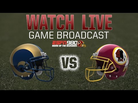 Redskins Radio Booth LIVE vs. Rams