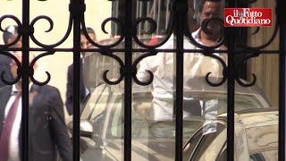 L'incontro blindato tra Salvini e Di Maio dopo settimane di tensioni: i due leader a Palazzo Chigi