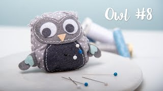 How to Make Pin Cushion Owl#8 - Sizzix