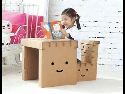 Muebles de carton para ninos de 40 ideas youtube - Mesas de carton ...