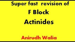 Video Revision of F Block || Actinides || Tricks in Inorganic Chemistry || Jee Advanced || AIIMS || NEET download MP3, 3GP, MP4, WEBM, AVI, FLV Juni 2018