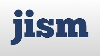 jism meaning and pronunciation