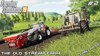 Plowing,cultivating and planting | Animals on The Old Stream Farm | Farming Simulator 19 | Episode 2