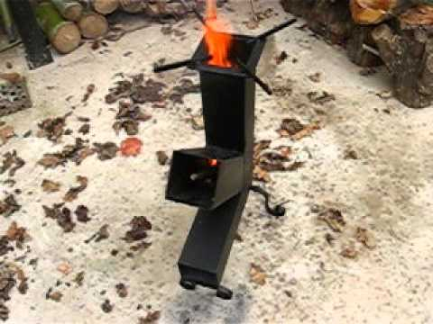 Rocket stove estufa cohete test youtube for Planos para cocina rocket
