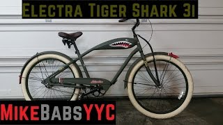 007 - Review of an ELECTRA TIGER SHARK 3i in Midway Grey Cruiser Bike