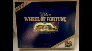 Wheel of Fortune Deluxe Edition Board Game Showdown