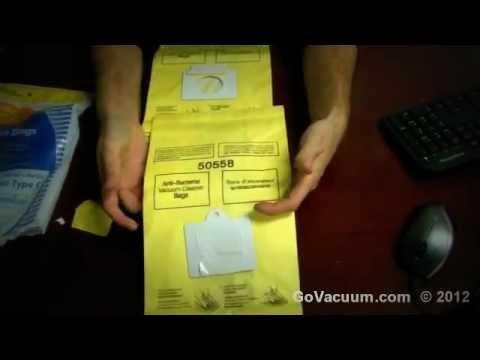 Kenmore C & Q Vacuum Bags 5055, 50557, 50558 Vac Bags 02050002000, 02050104000 and 02050003000