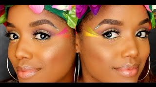 FESTIVAL Makeup Tutorial | Ellarie