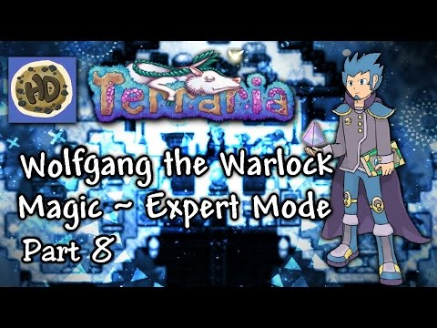 Terraria 1.3 Expert Warlock Let's Play Part 8 Sharks, Meteors, & Brains! | 1.3 mage playthrough