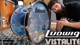 Rescuing a Ludwig Vistalite Bass Drum!