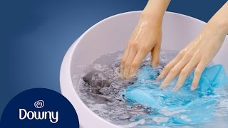 How To Use Fabric Softener - Hand Wash | Downy