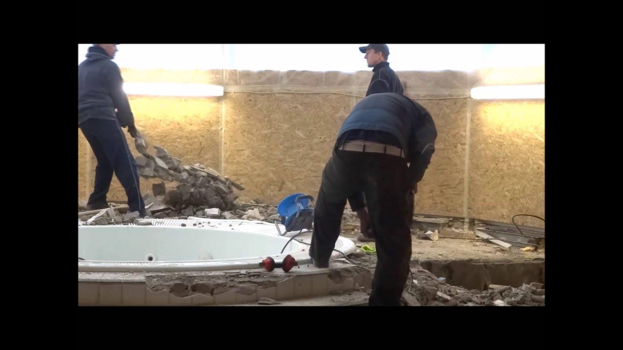 Fussbodenheizung Und Estrich Entfernen Am Whirlpool