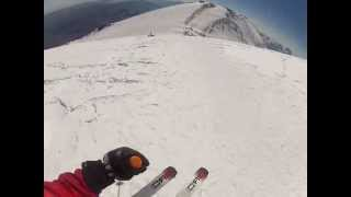 21 July 2012. Skiing from the top of Elbrus