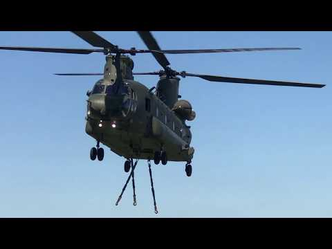 RAF Chinook Delivering