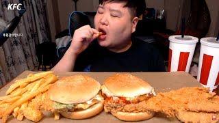 KFC 베스트 버거팩 먹방 mukbang 만능방송