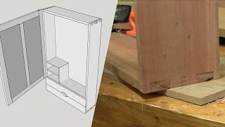 Wall Hanging Tool Chest Part 2 - Bandsaw Dovetails (dovetails)