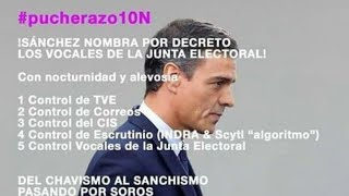 EMR: La imagen que acusa a Pedro Sánchez de hacer un pucherazo el 10N
