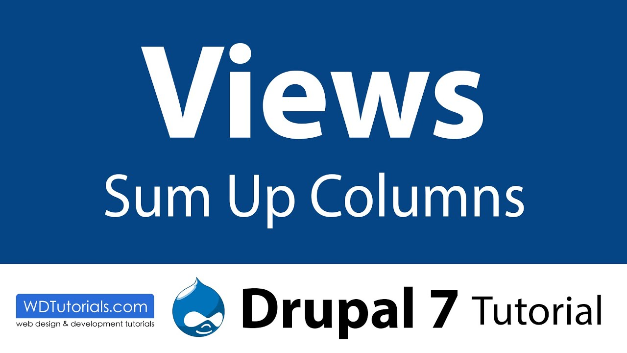 Drupal 7 - How To Sump Up Views With The Views Aggregator Plus Module