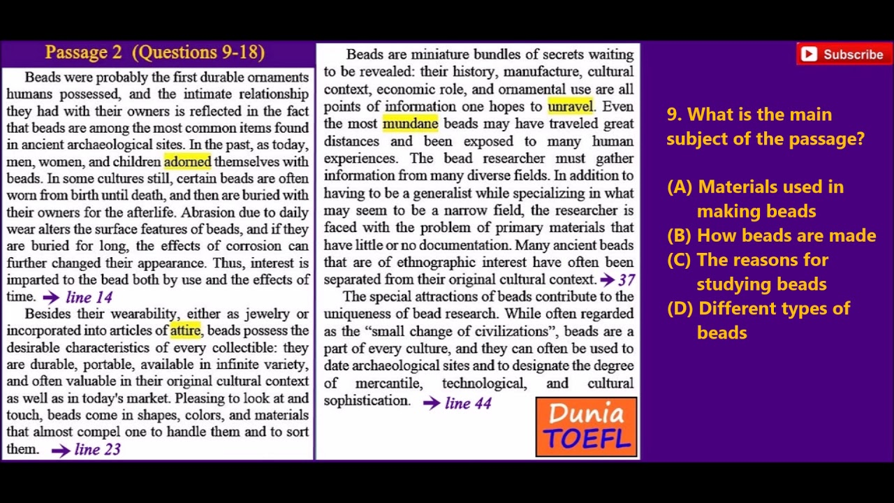 TOEFL Reading Full Practice Test 37 with Answer Key - YouTube