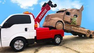 Tobot Robot Transformers MUD OFF Road stopmotion - Optimus Prime & Lego Restoration Cars toys!