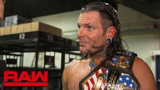 Jeff Hardy is ecstatic after winning his first U.S. Title: Raw Exclusive, April 16, 2018